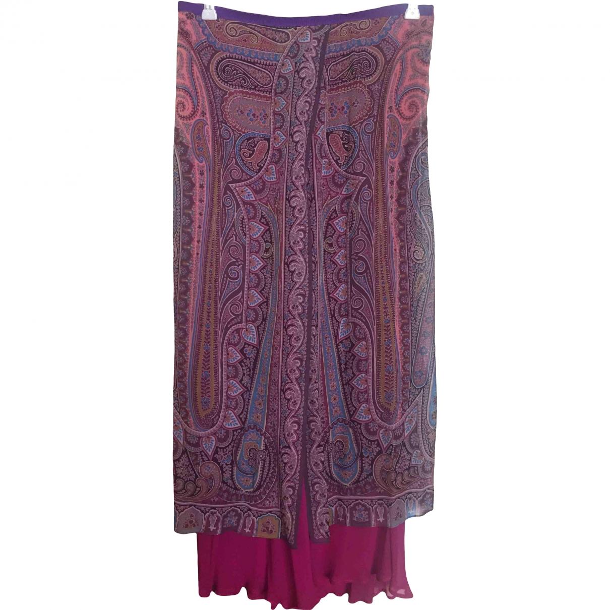 Etro \N Purple Silk skirt for Women 44 IT