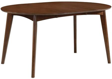 Malone Collection 105361 42 - 60 Dining Table with 1 Extension Leaf Insert  Angled Tapered Legs and Solid Hardwood Construction in Dark