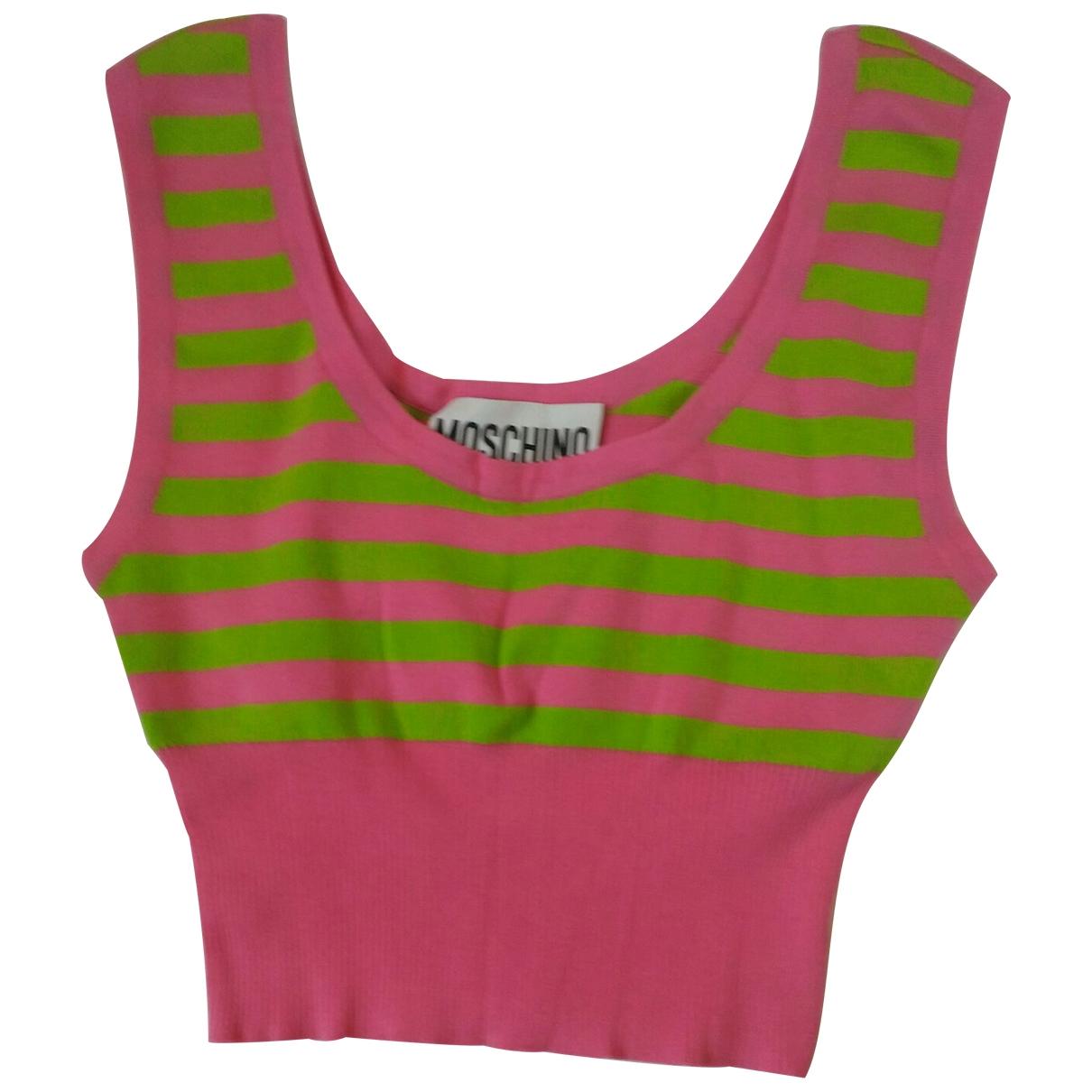 Moschino - Top   pour femme en coton - rose