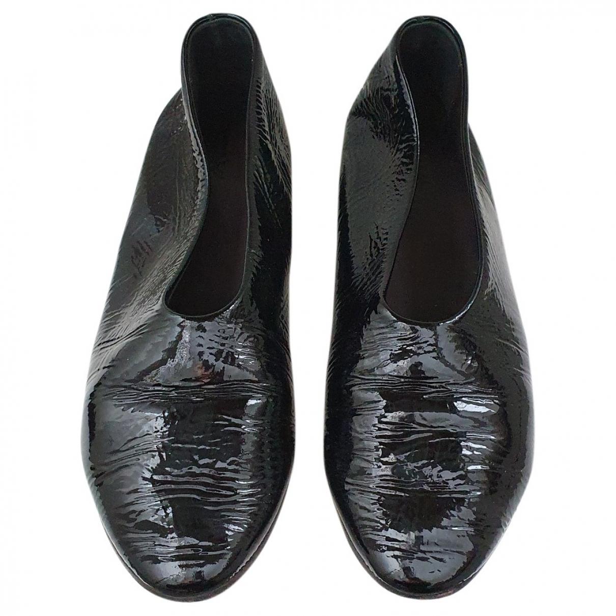 Marsell - Ballerines   pour femme en cuir verni - noir