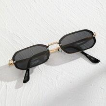 Maenner Sonnenbrille mit geometrischem Design