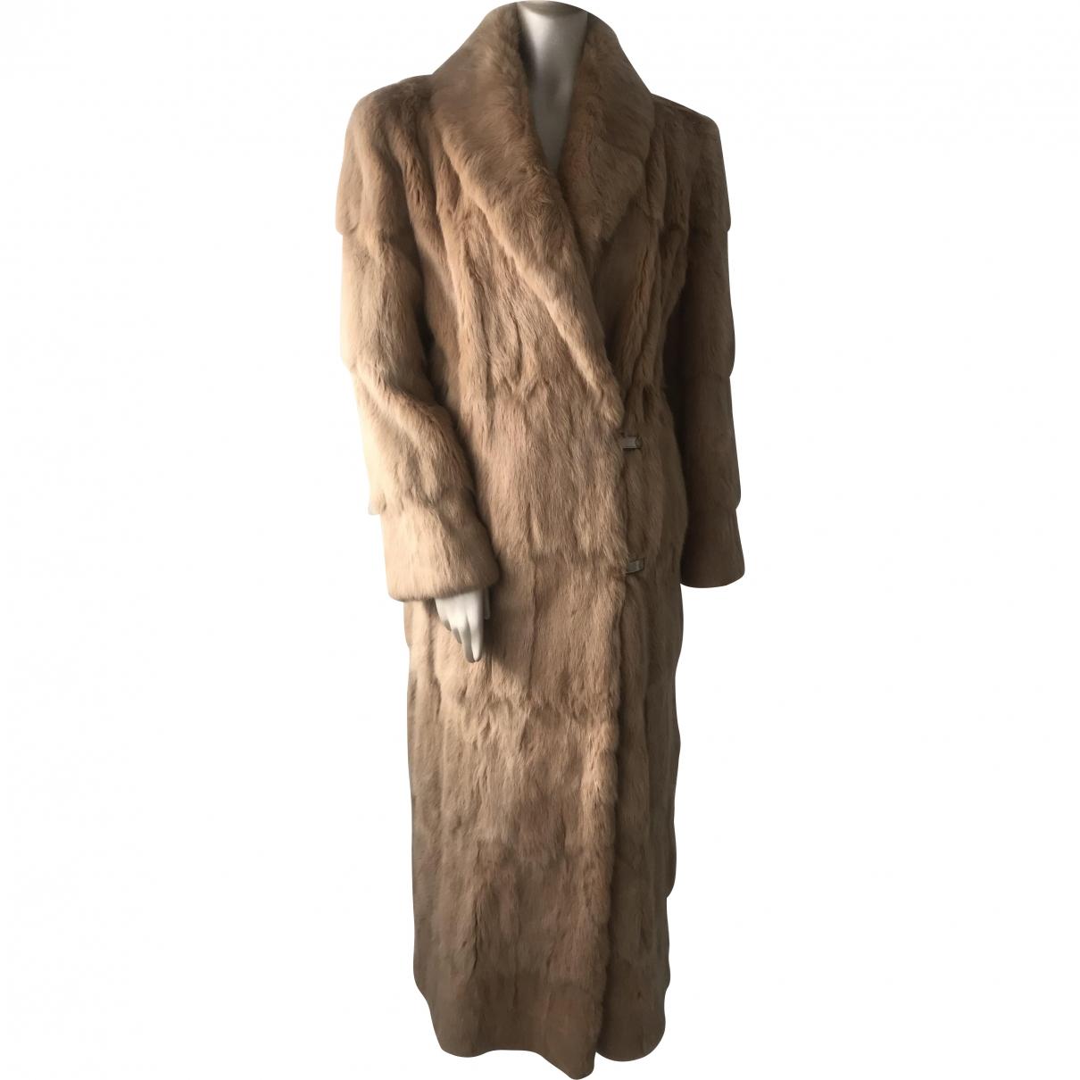 Gianni Versace \N Beige Rabbit coat for Women 40 IT