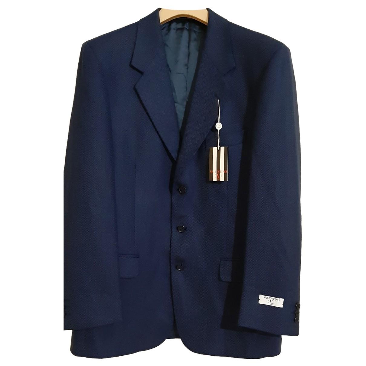 Valentino Garavani N Blue Wool jacket  for Men 50 IT