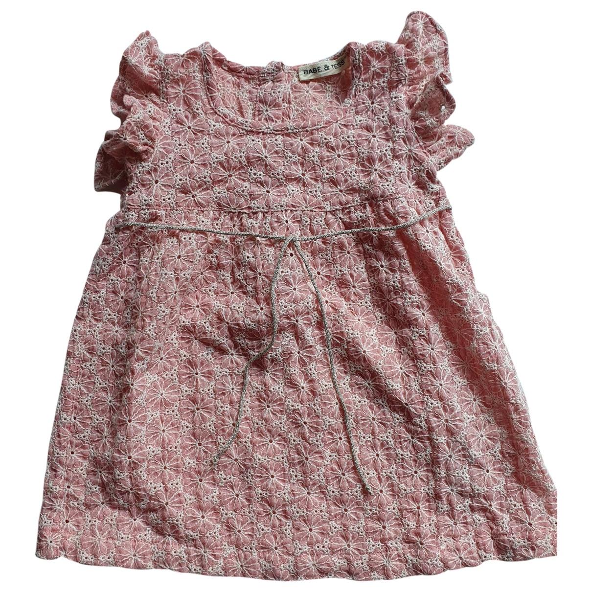 Babe & Tess - Robe    pour enfant en coton - rose