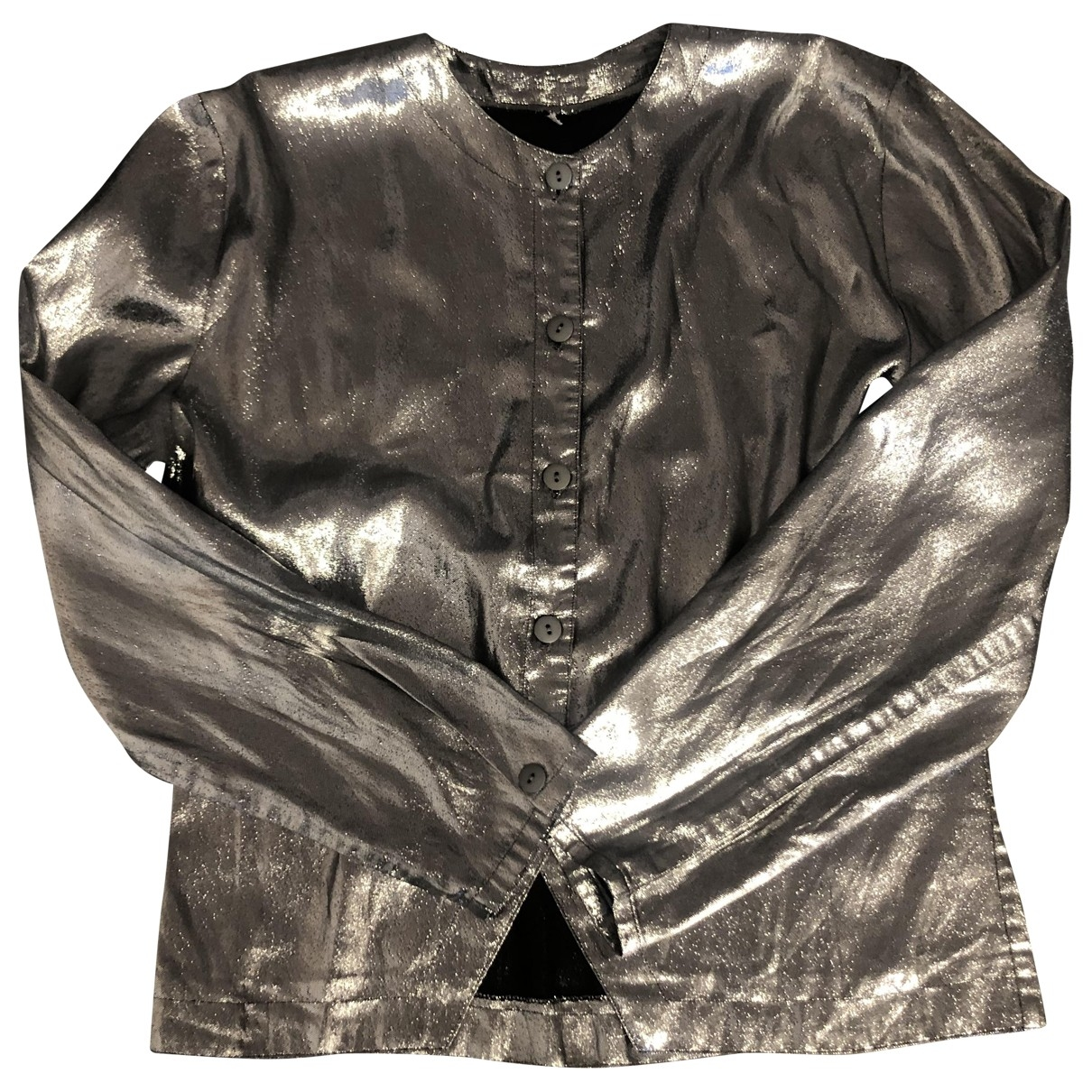 Non Signé / Unsigned \N Silver Glitter  top for Women 44 IT