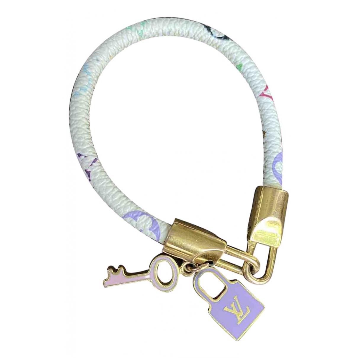 Louis Vuitton - Bracelet   pour femme en cuir - blanc