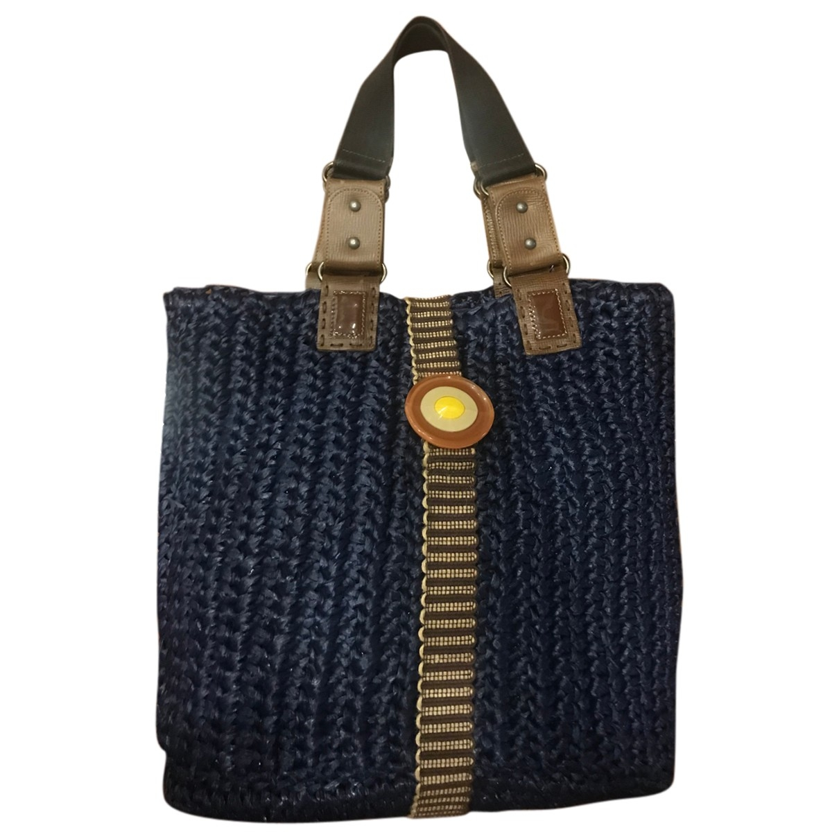 Marni \N Handtasche in  Blau Stroh