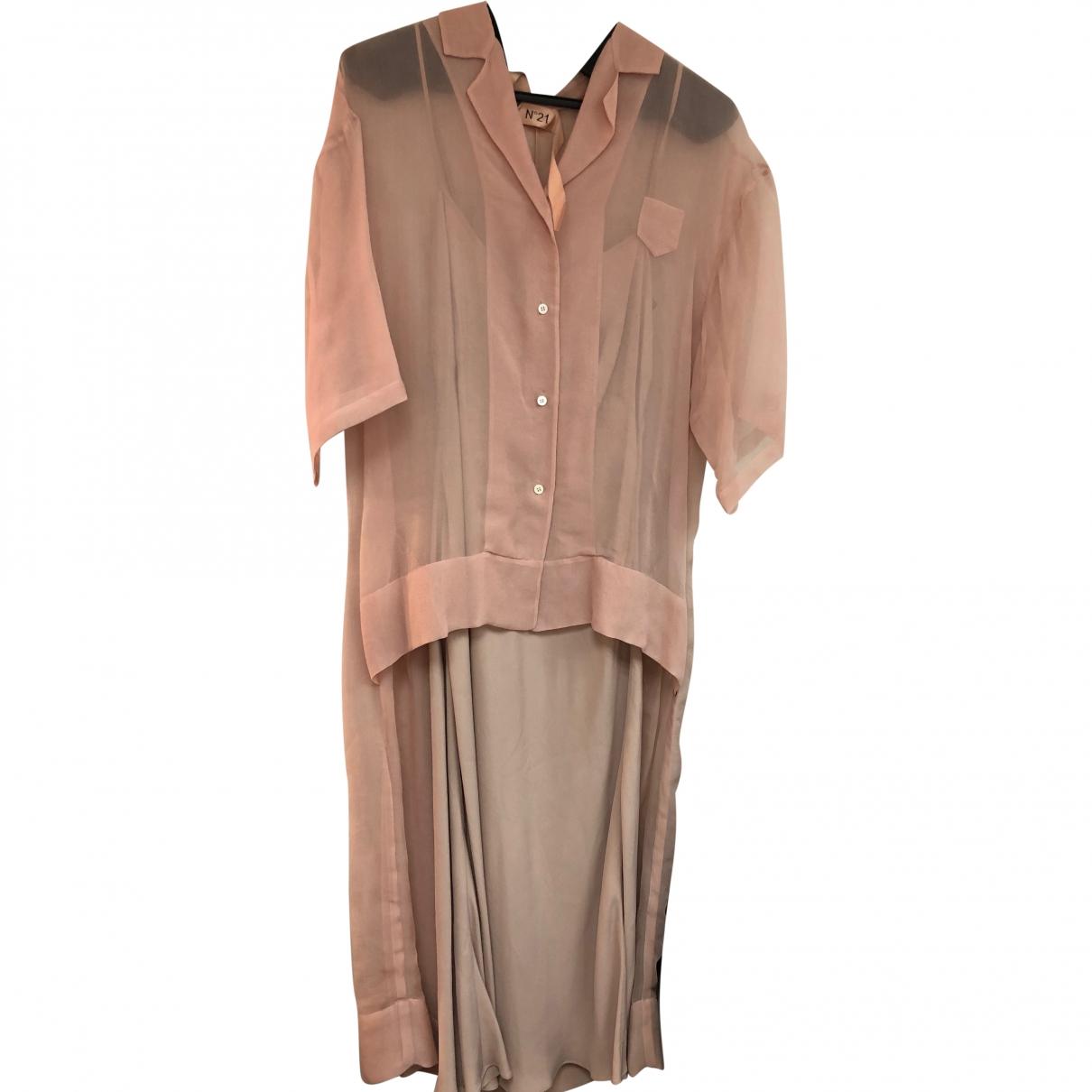 N°21 \N Pink Silk dress for Women 44 IT