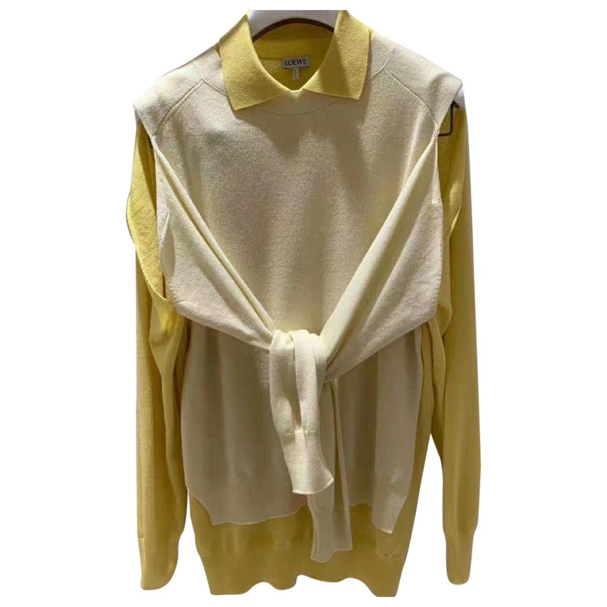 Loewe \N Pullover in  Gelb Wolle