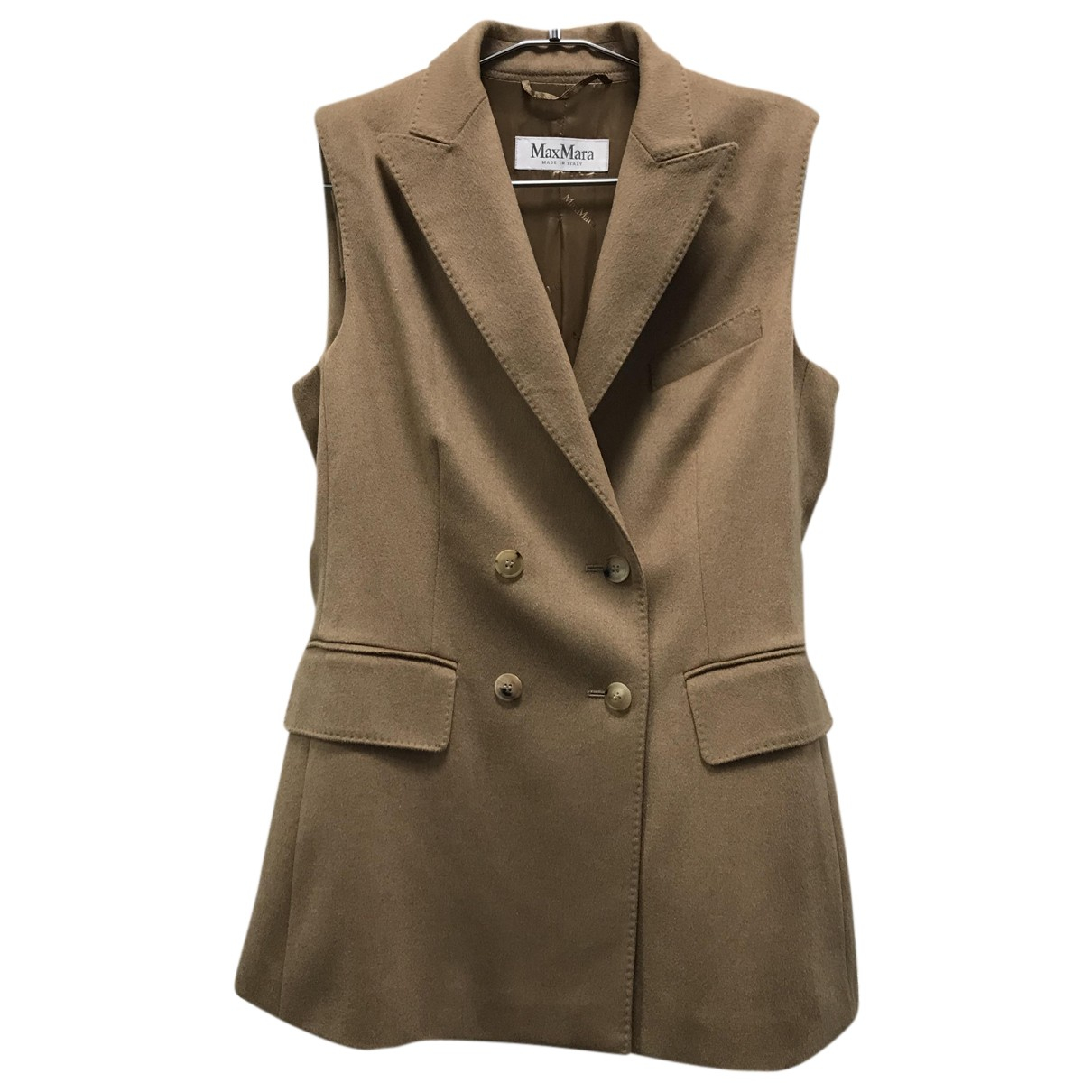 Max Mara N Camel Cashmere jacket for Women 42 IT