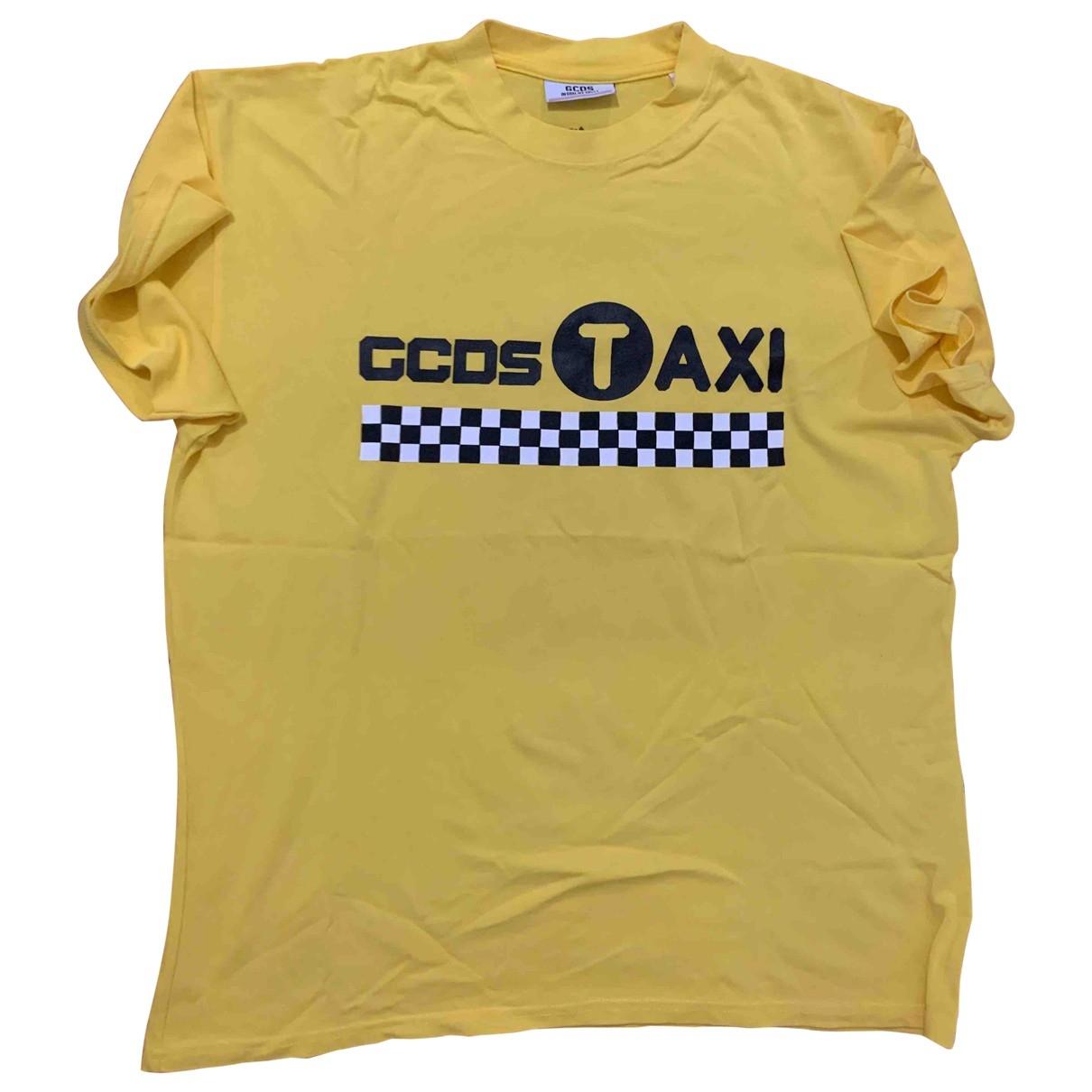 Gcds - Tee shirts   pour homme en coton - jaune