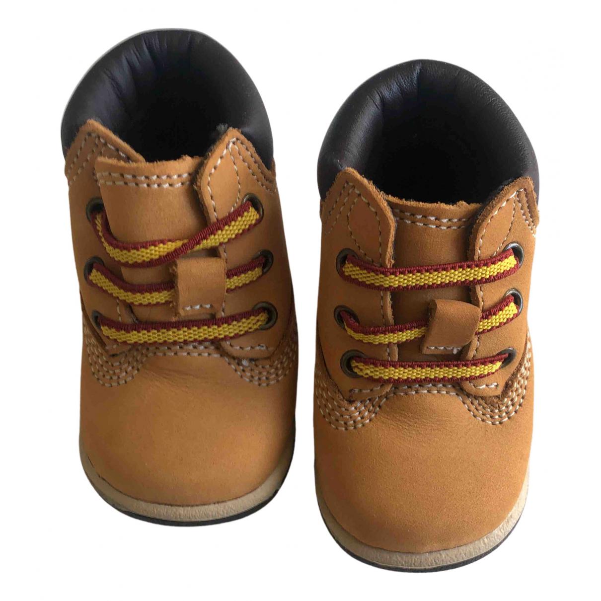 Timberland - A lacets   pour enfant en cuir - beige
