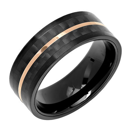 8mm Stainless Steel Black Band, 11 1/2 , No Color Family