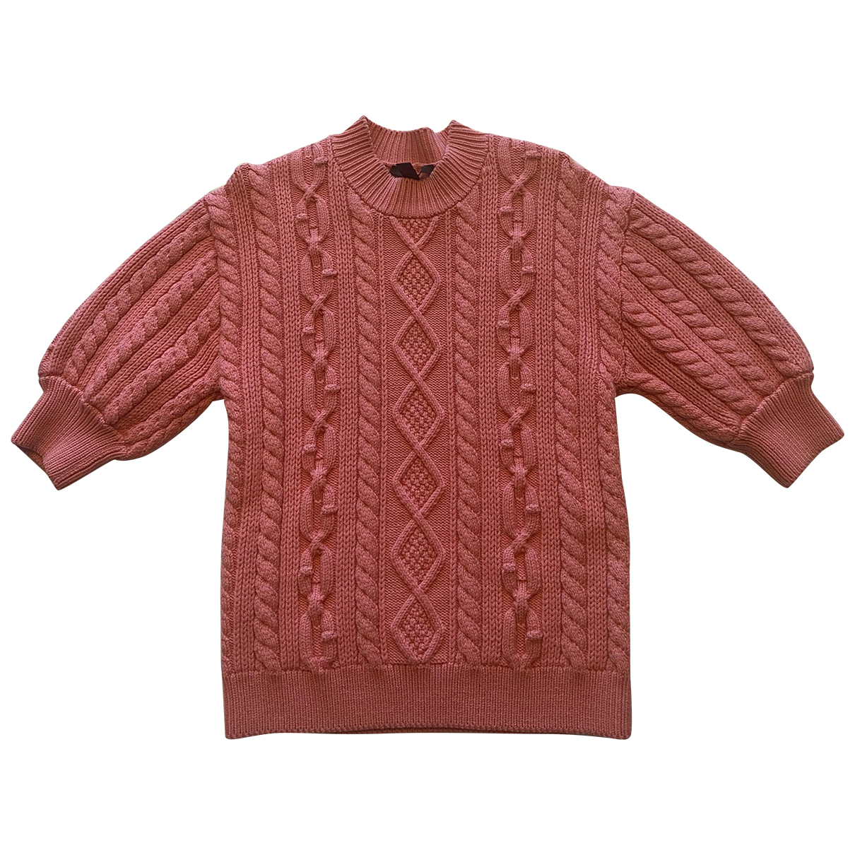 Louis Vuitton N Pink Wool Knitwear for Women XS International