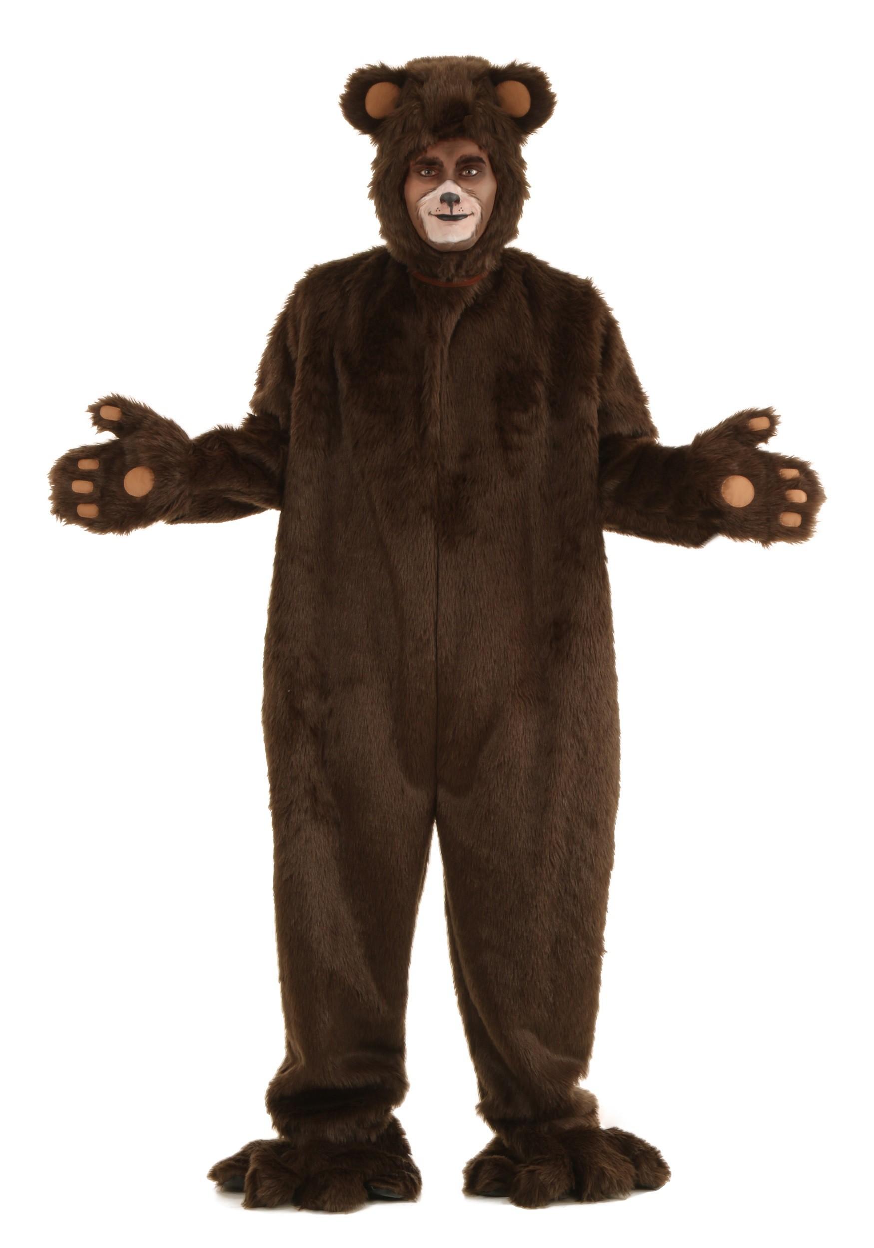 Deluxe Furry Brown Bear Costume for Men