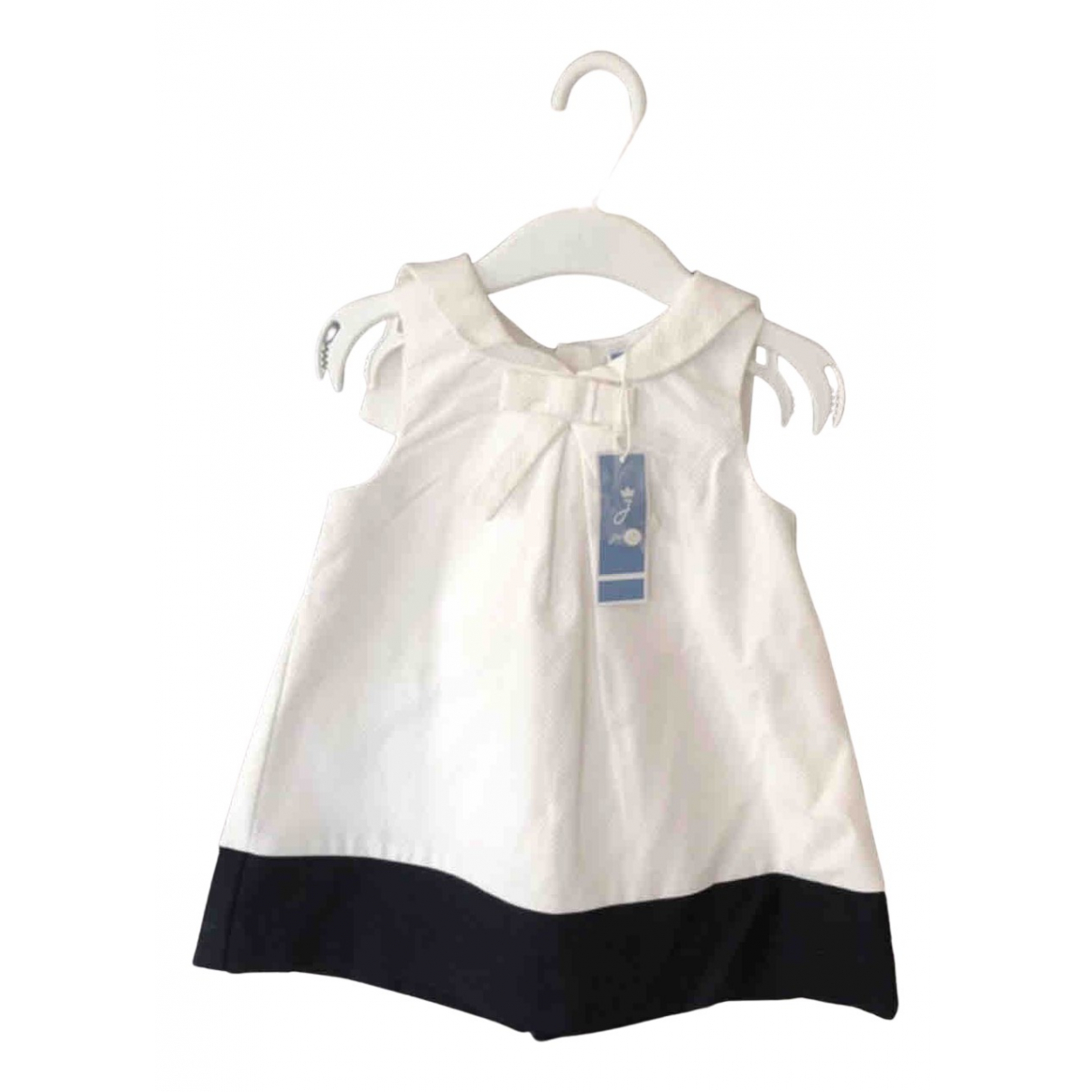 Jacadi N White Cotton dress for Kids 12 months - up to 74cm FR