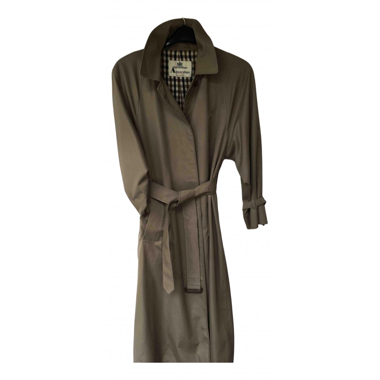 Aquascutum \N Beige Cotton Trench coat for Women 12 UK