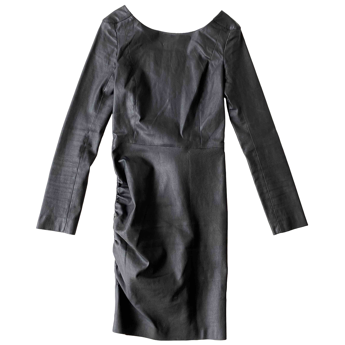 Maje \N Black Leather dress for Women 36 FR