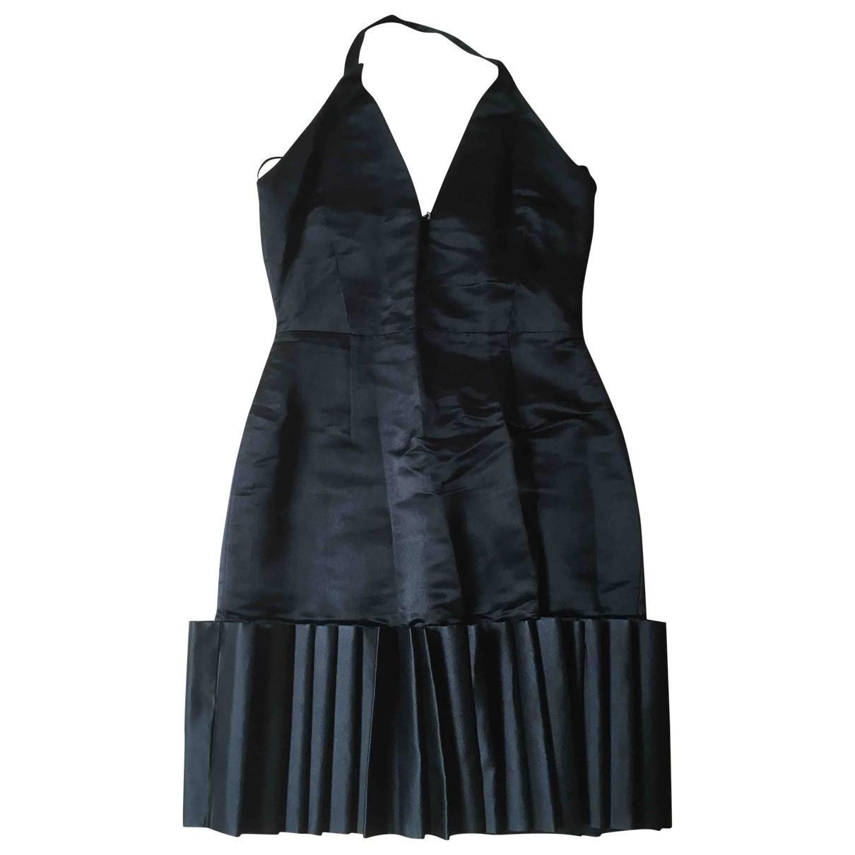 Designers Remix \N Kleid in  Schwarz Seide