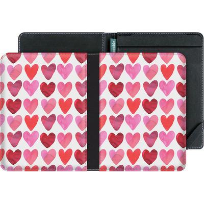 tolino vision 4 HD eBook Reader Huelle - Heart Watercolour von Amy Sia
