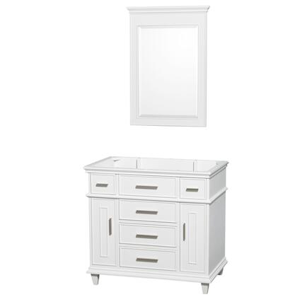 WCV171736SWHCXSXXM24 36 in. Single Bathroom Vanity in White with No Countertop and No Sink and 24 in.