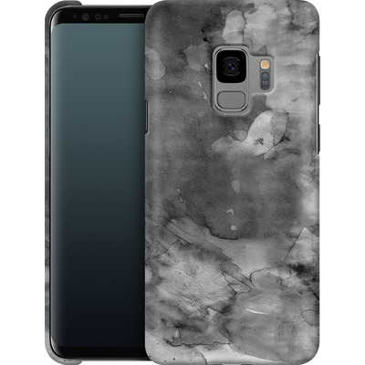 Samsung Galaxy S9 Smartphone Huelle - Black Watercolor von Emanuela Carratoni