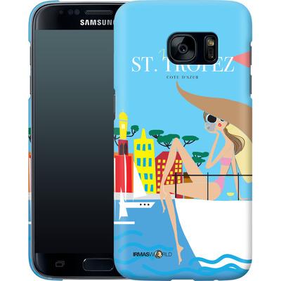 Samsung Galaxy S7 Smartphone Huelle - ST TROPEZ TRAVEL POSTER von IRMA