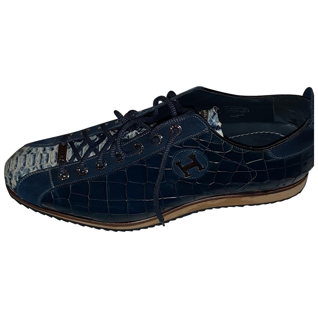 Harris \N Sneakers in  Blau Leder