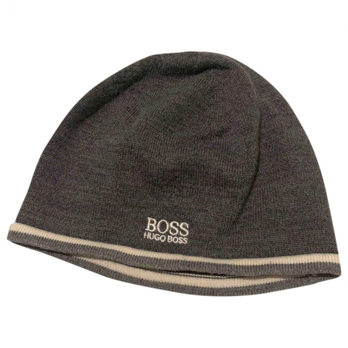 Boss Orange \N Hut, Muetzen in  Grau Wolle