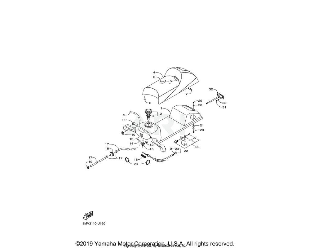 Yamaha OEM 8JM-F4501-01-00 FILTER, FUEL