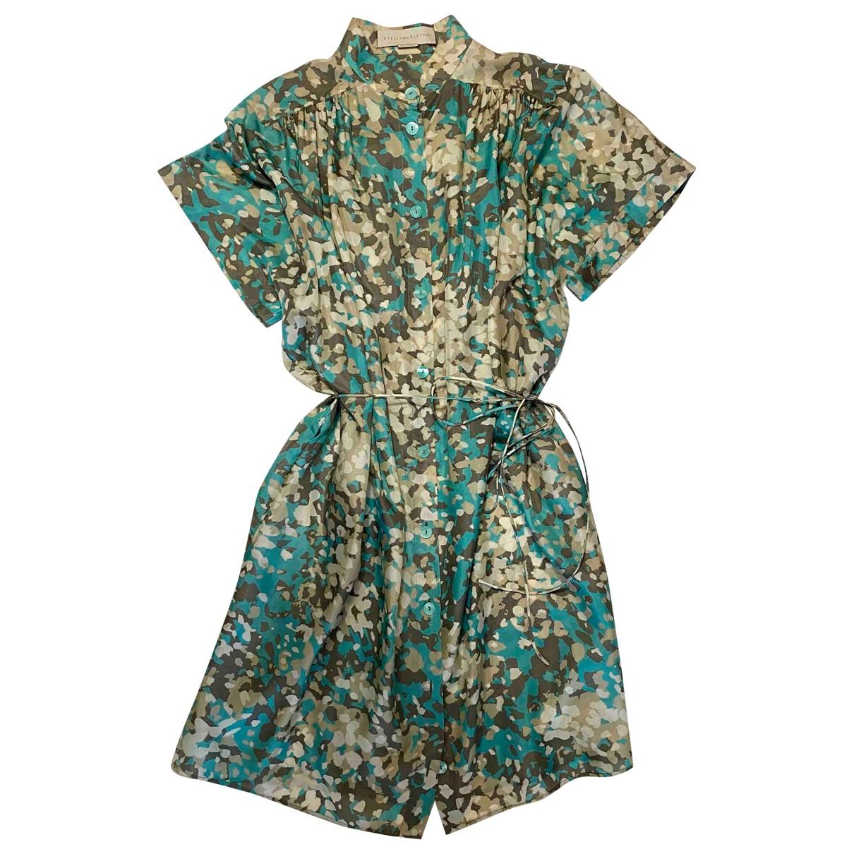 Stella Mccartney \N Kleid in  Gruen Seide