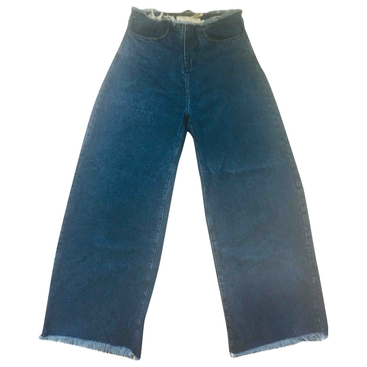 Marques Almeida \N Blue Denim - Jeans Jeans for Women 36 FR