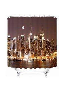 City Night View Print 3D Bathroom Shower Curtain