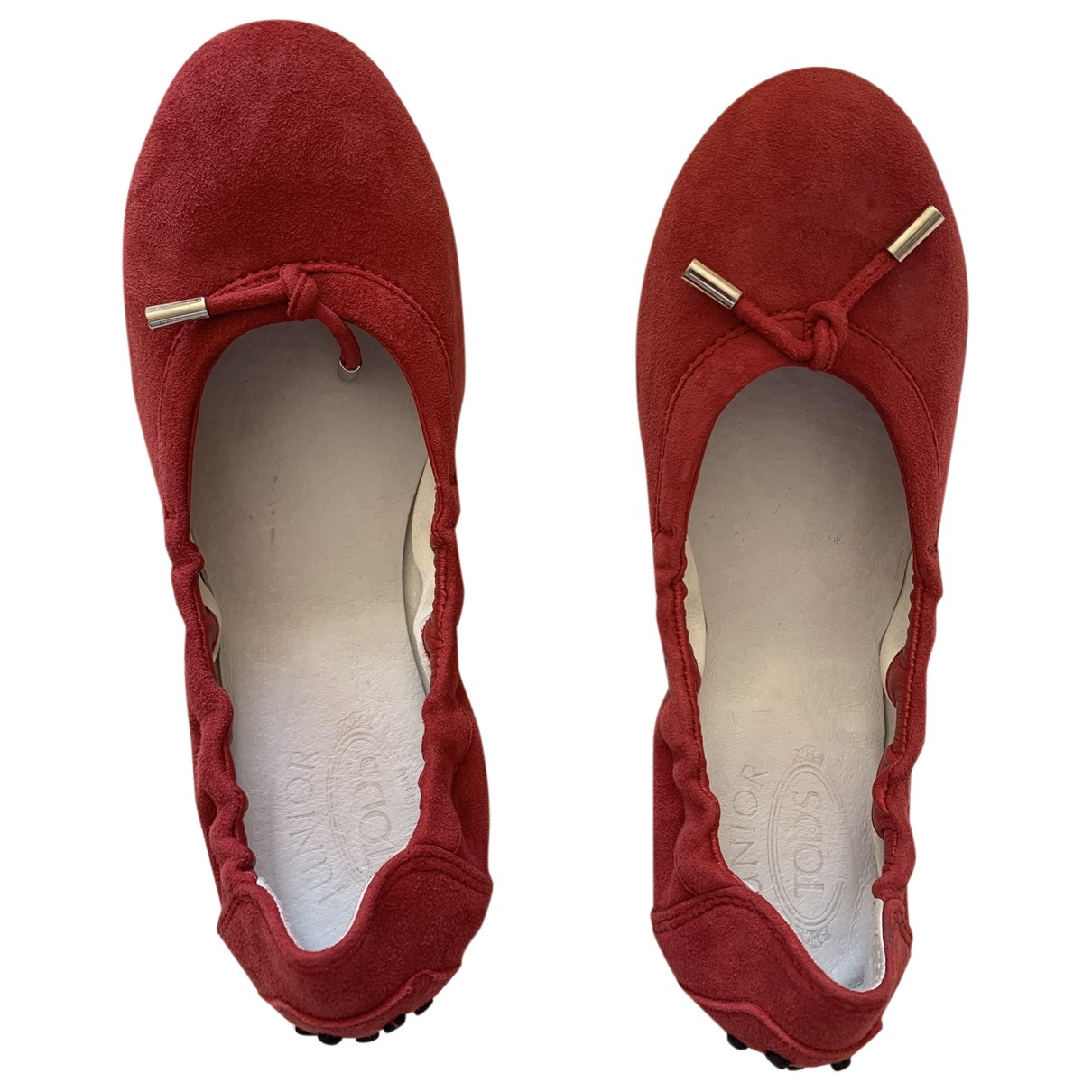 Tod's \N Red Suede Ballet flats for Kids 34 EU