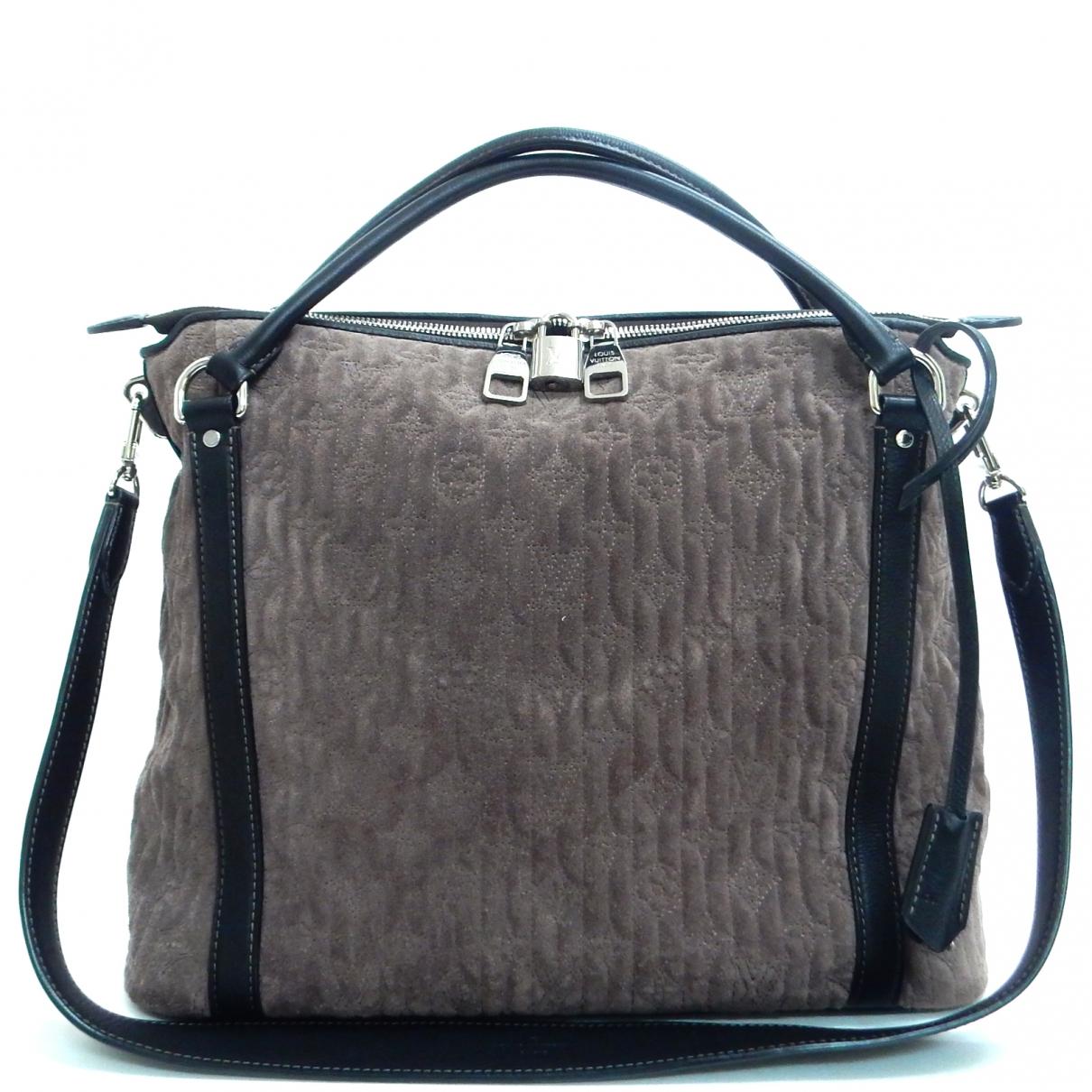 Louis Vuitton - Sac a main Antheia pour femme en suede - gris