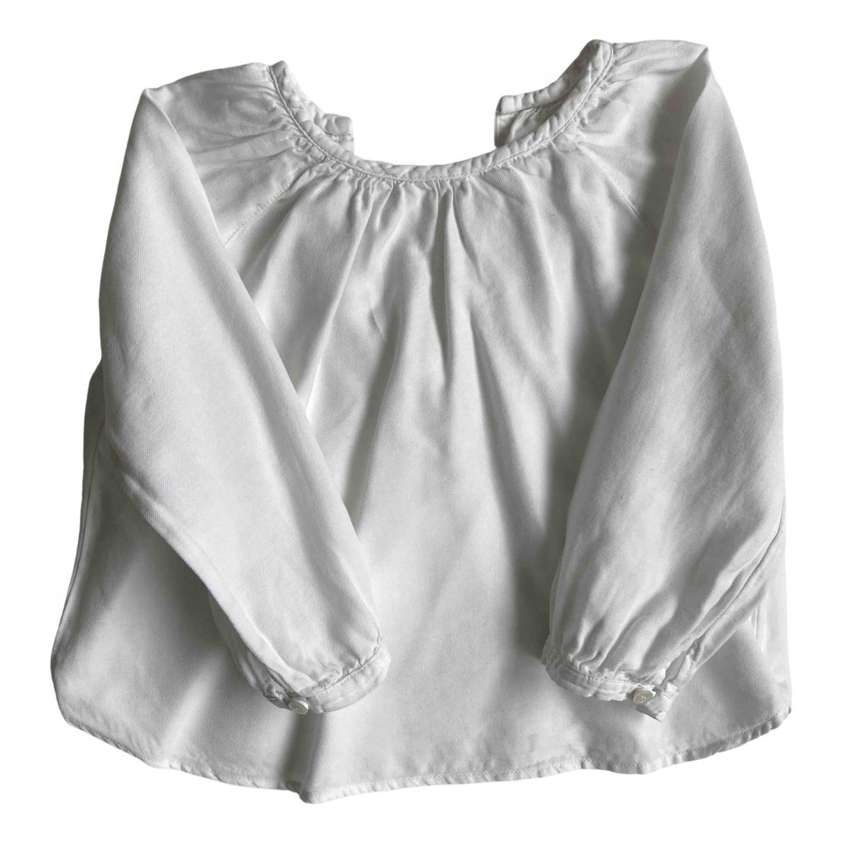 Babe & Tess - Top   pour enfant en coton - blanc