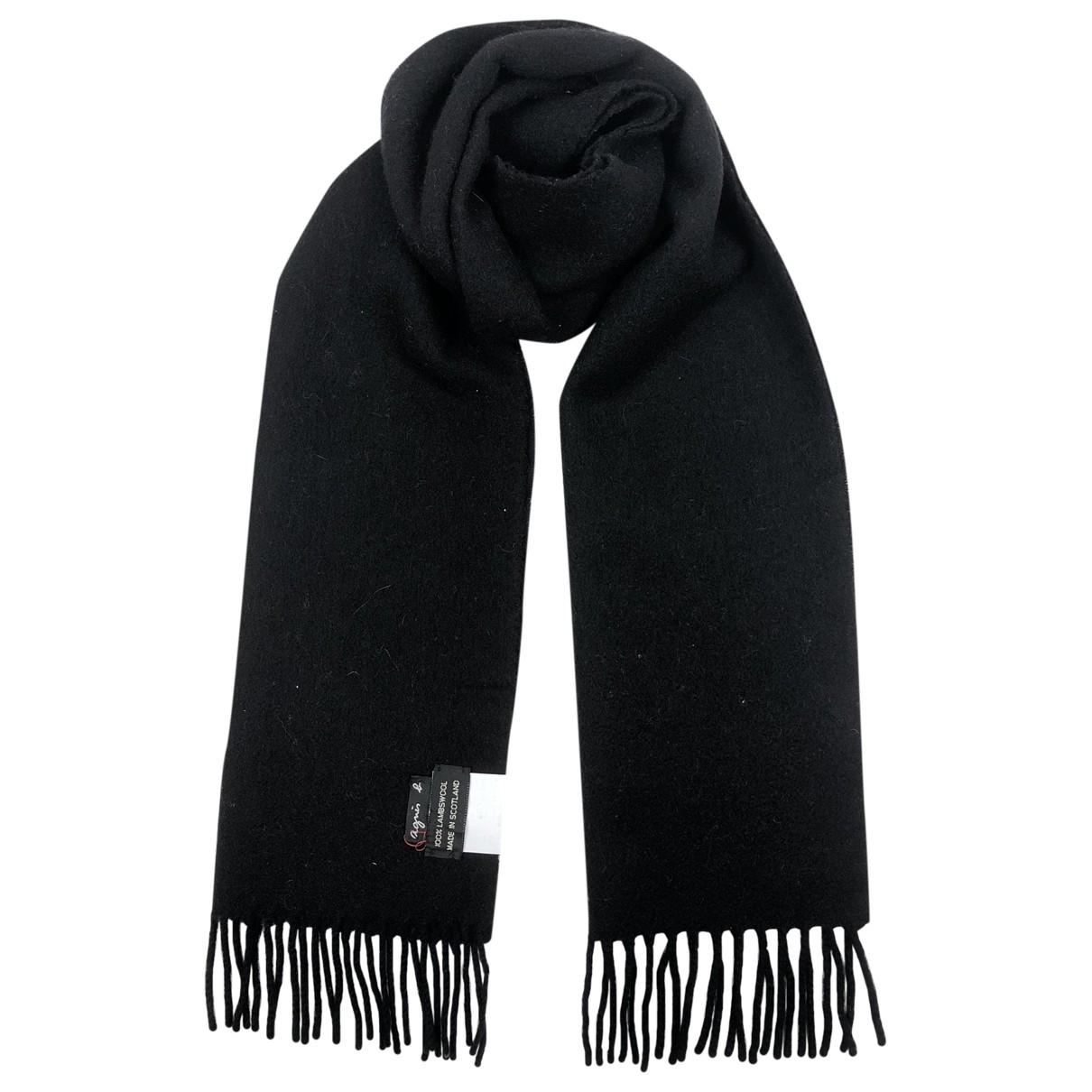 Agnès B. \N Black Wool scarf for Women \N