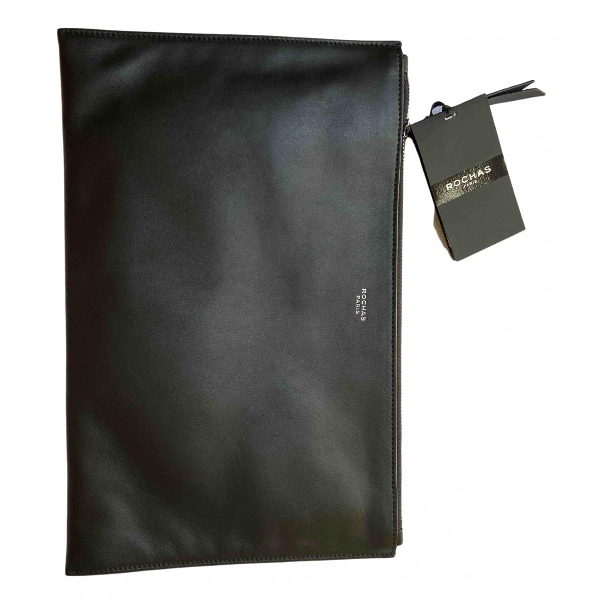 Rochas - Pochette   pour femme en cuir - noir