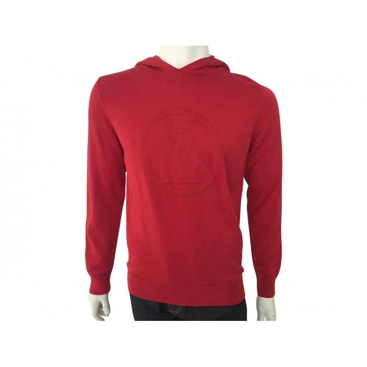 Louis Vuitton \N Pullover.Westen.Sweatshirts  in  Rot Baumwolle