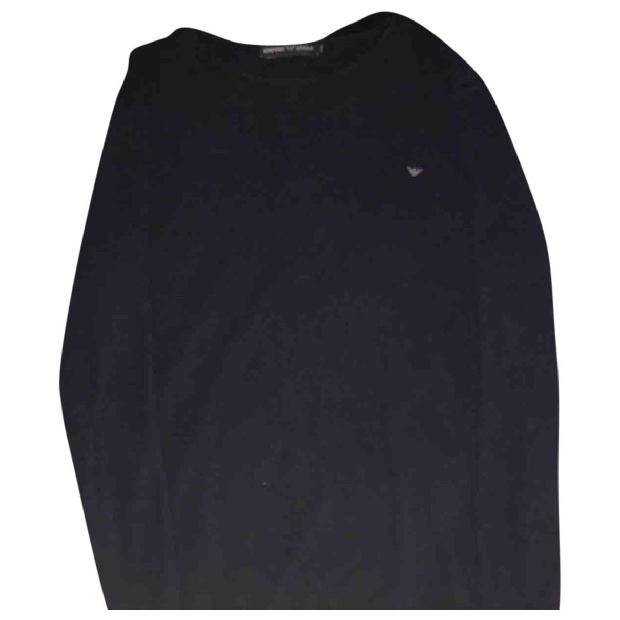 Emporio Armani \N Pullover.Westen.Sweatshirts  in  Blau Baumwolle