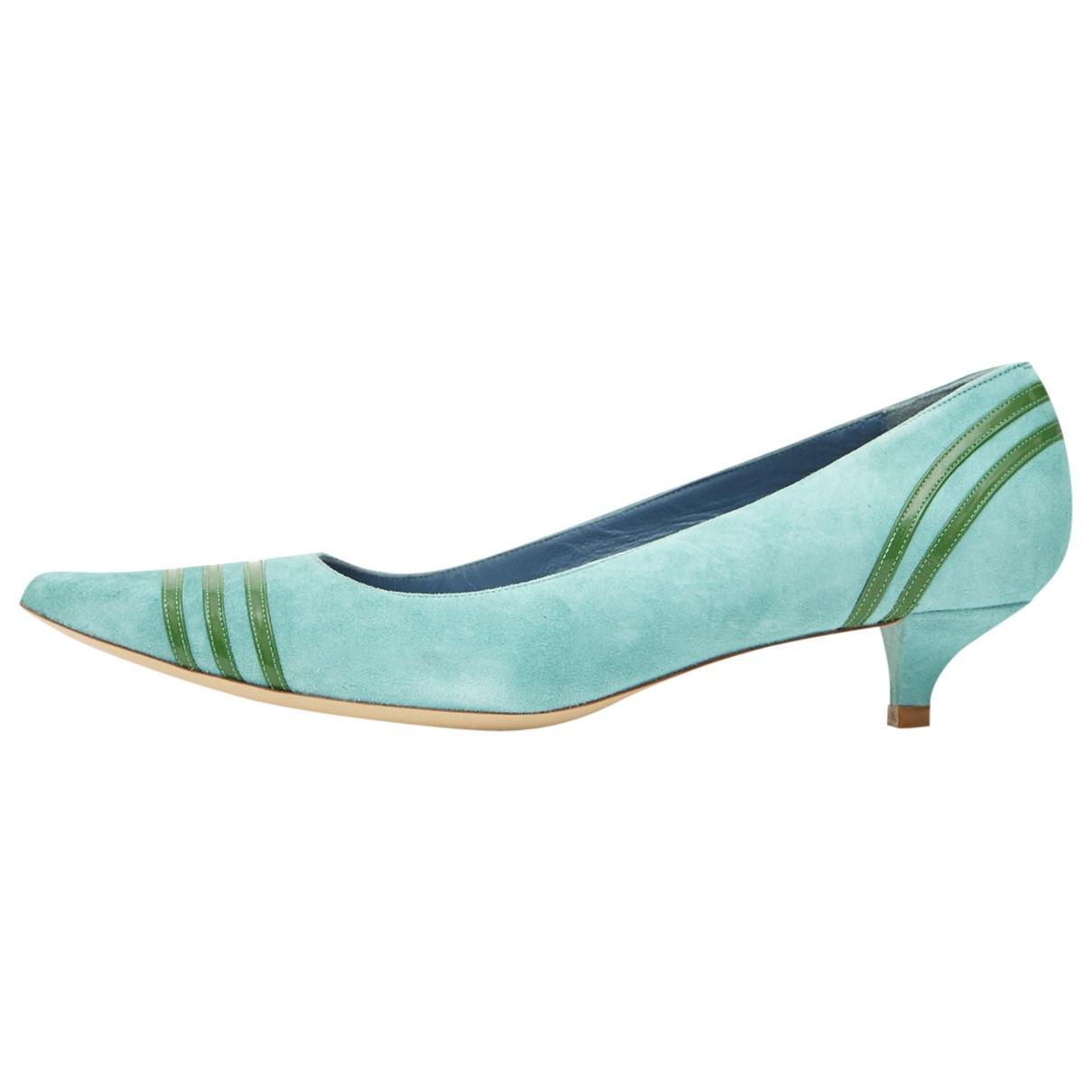 Marc Jacobs \N Green Suede Heels for Women 37.5 EU
