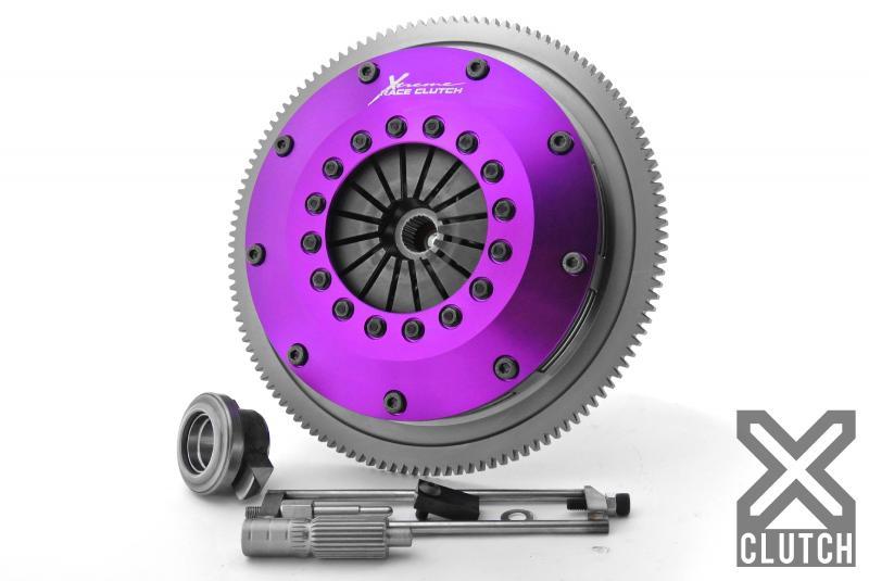 XClutch XKSU20520-2B Clutch Kit with Chromoly Flywheel 8 and Twin Sprung Ceramic Clutch Discs Subaru