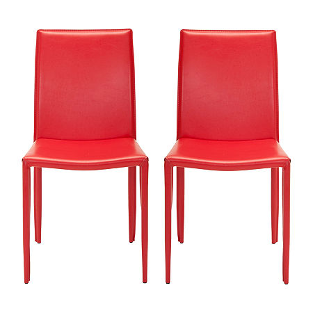 Karna Dining Chair-Set of 2, One Size , Red