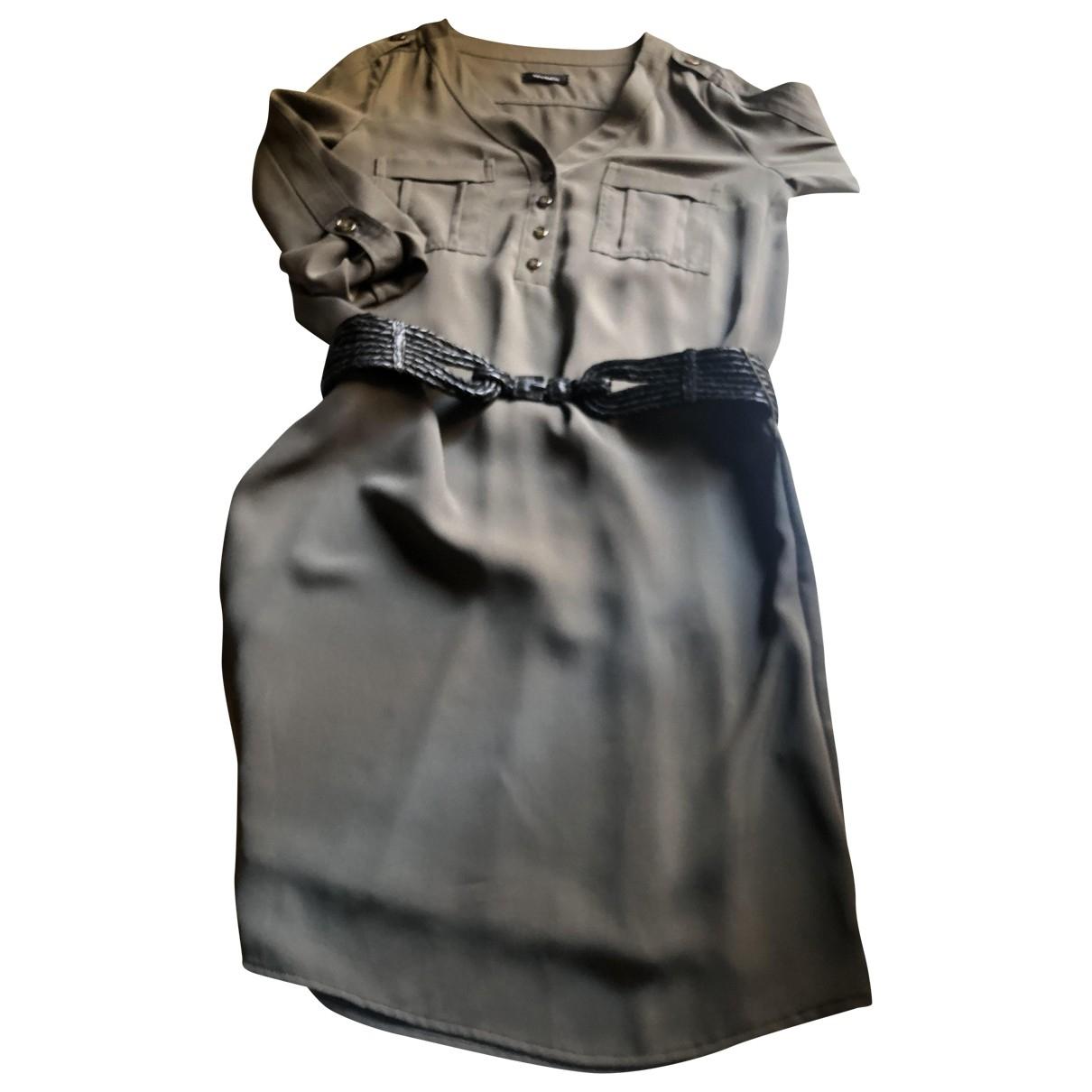 Max & Co \N Kleid in  Khaki Seide