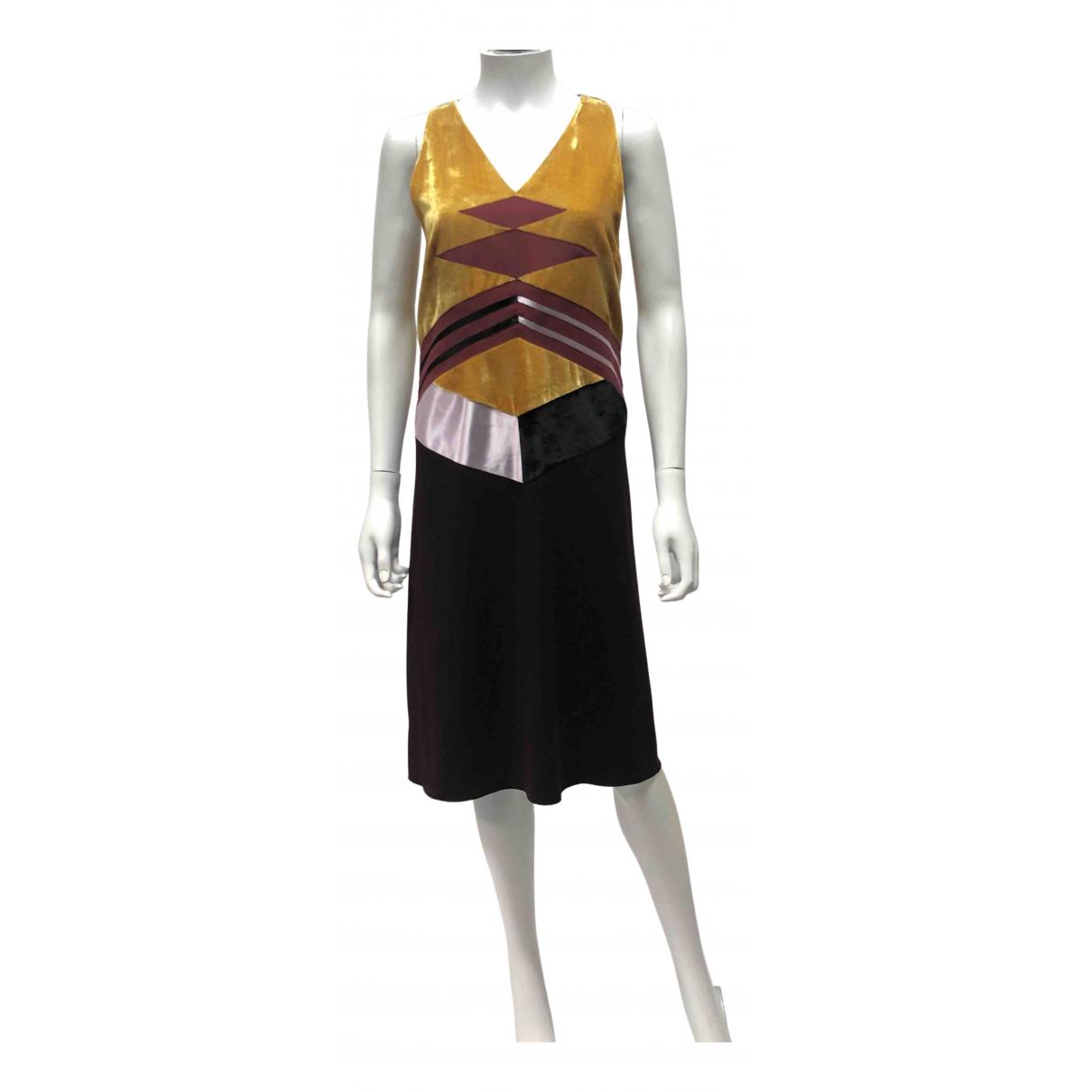Bottega Veneta - Robe   pour femme en velours - multicolore