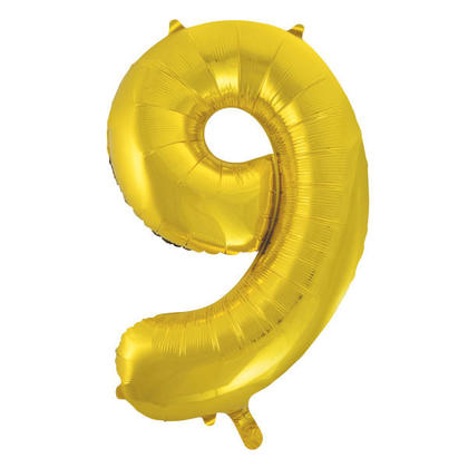 Numéro 9 Ballon Feuille Or 34