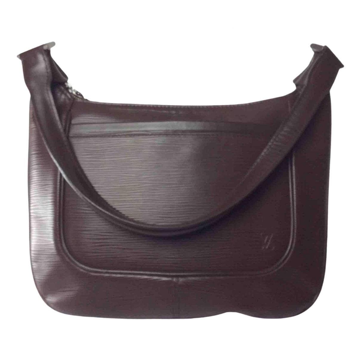 Louis Vuitton Matsy Handtasche in  Braun Leder
