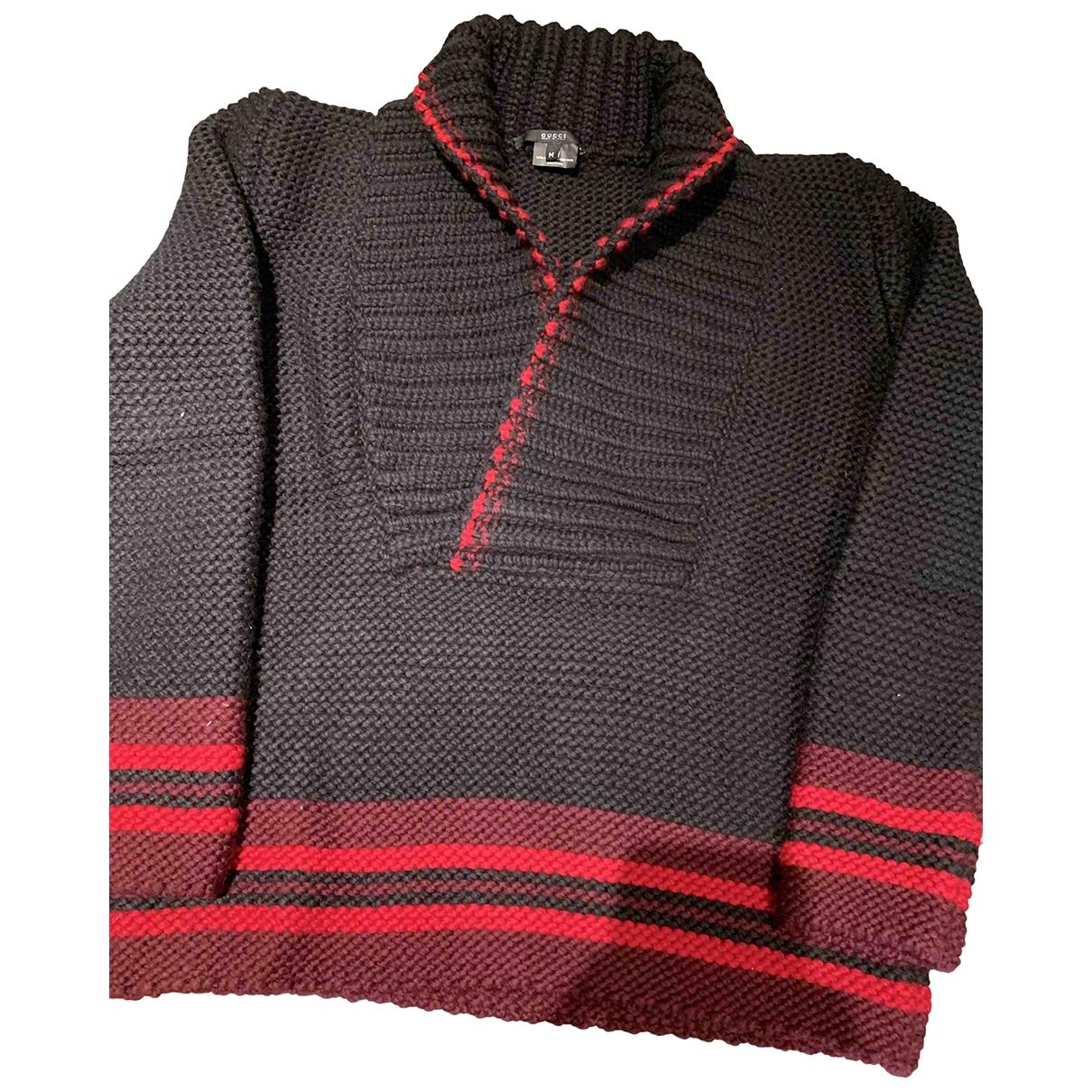 Gucci \N Pullover.Westen.Sweatshirts  in  Schwarz Wolle