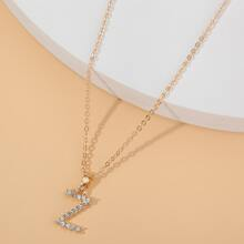 Halskette mit Buchstaben Anhaenger