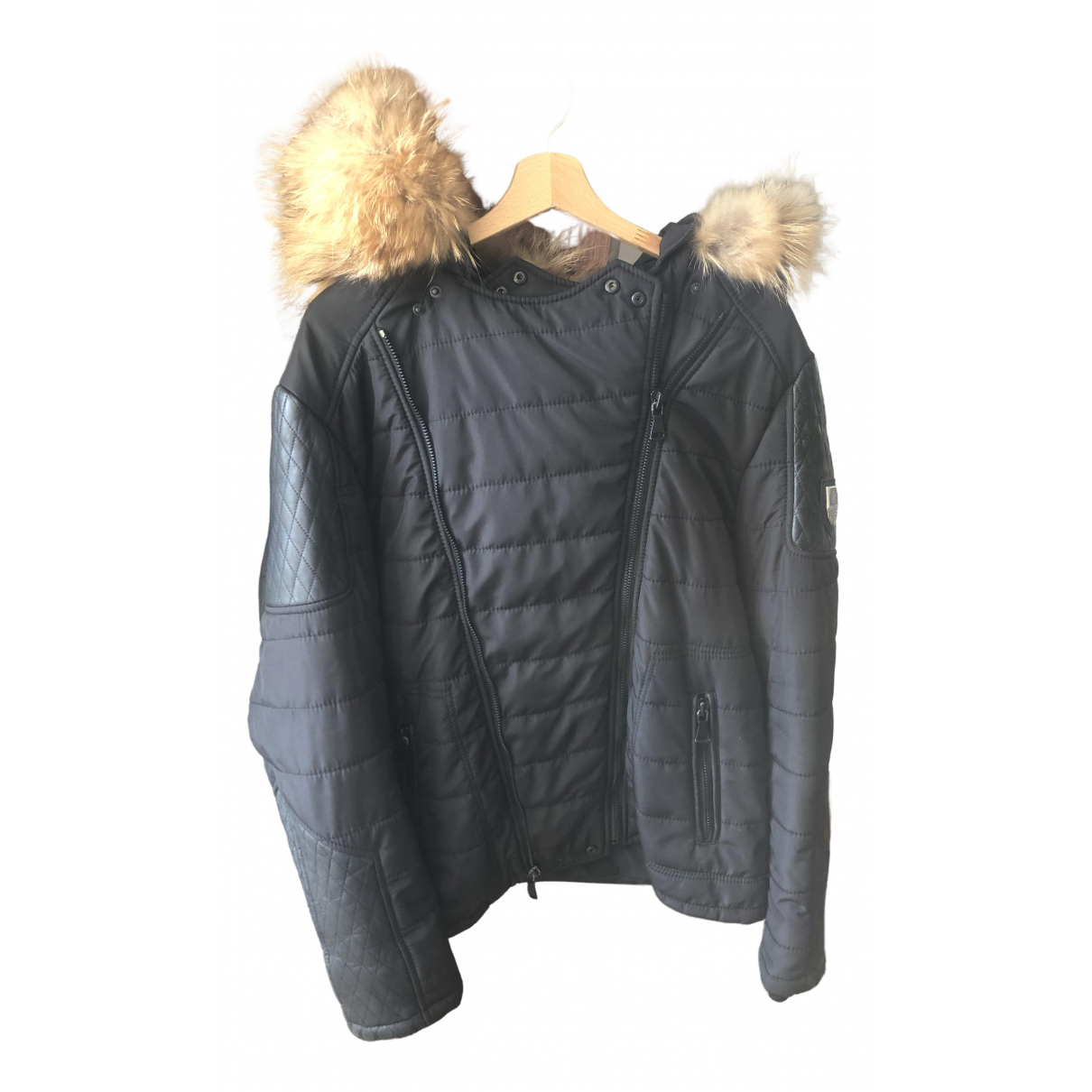 Horpist - Manteau   pour homme en renard - noir